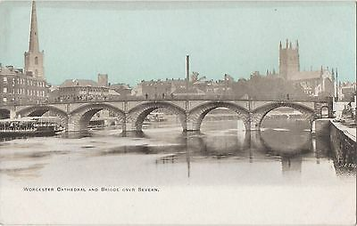 POSTCARD WORCESTER  Cathedral and Bridge