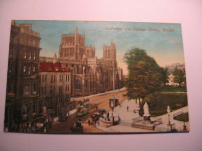 POSTCARD BRISTOL  Cathedral & College Green