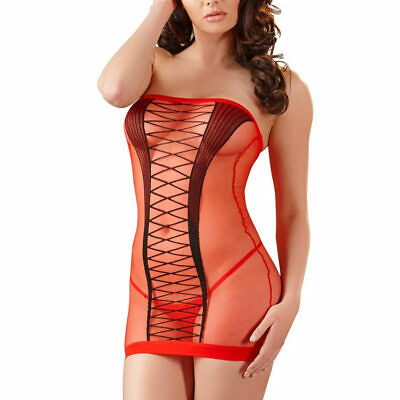 "Sexy Tubekleid Nylon rot Dessous Minikleid Kleid Transparent 42 S M L  ""Madison"""