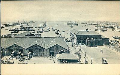 POSTCARD  CEYLON  Colombo Harbour and Jetty