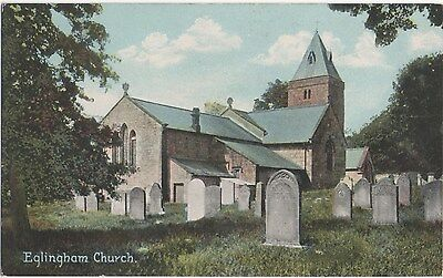 POSTCARD  EGLINGHAM  Church