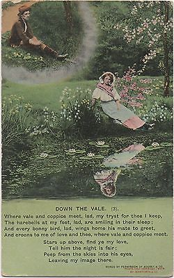 POSTCARD  SONG CARDS  Down the Vale (3)