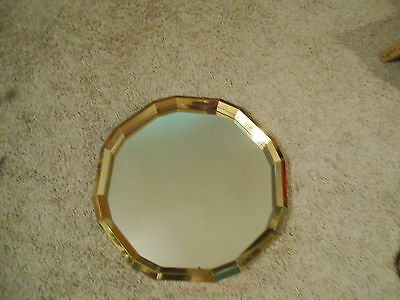 "Large Gold Mirror  picture plaques Vintage Home Interiors  15 "" round"