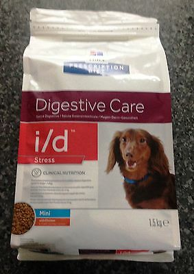 Hills Canine i/d Mini Stress 1.5kg for small dogs & pups diarrhoea due to stress