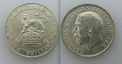 Collectable 1916 King George V Silver One Shilling