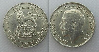 Collectable 1917 King George V Silver One Shilling