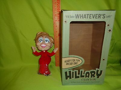 "Hillary Clinton 8"" Political Doll Figure Limited Edition Toy in RED DRESS"