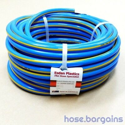 "Air Compressor Hose 12mm x 50m - Uniflex 1/2"" Australian Braided Air Tool Hose"