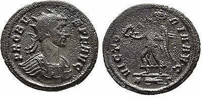 Ancient Rome Probus AD 276-282 Silvered AE Antoniani Victory  #5