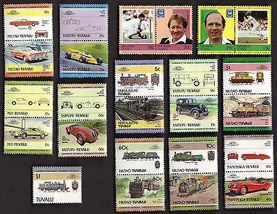 25 All Different Tuvalu & Dependencies  Stamps (Type 2)(J)