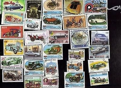 30 Mercedes Cars / Autos/ Automoblies On Stamps