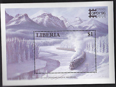 Liberia Scott No  1205 Winter Train, Capex '96 Mint Nh