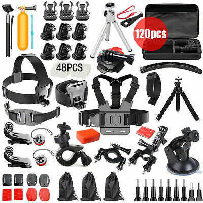 Accessories Pack Case Chest Head Floating Monopod GoPro Hero 7 6 5 4 3+ 2 216pcs