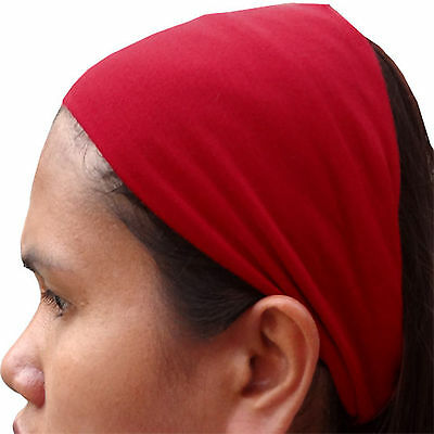Red Alice Headband Hairband Sweat Head Hair Band Gym Exercise Sports Sweatband