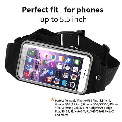 Sports Running Gym Cycling Waist Band Bum Bag Case For Mobile Phones