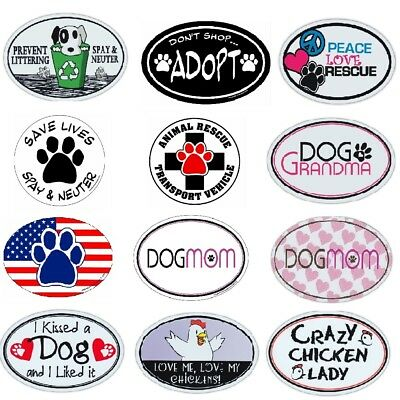 "Pet Magnet (Choose Your Design) Dogs Cats 4"" x 6"" Shaped Heart"