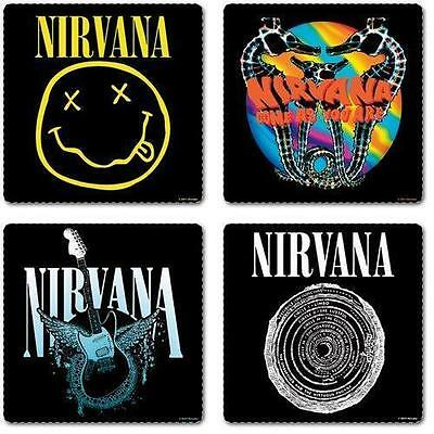 The Nirvana - Smiley And Logos - Boxed 4 Piece Coaster Set