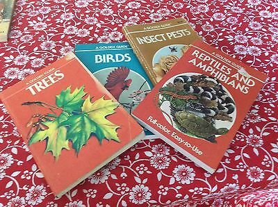 Golden Guide lot #4 Birds,trees,, incect pests, reptiles vintage