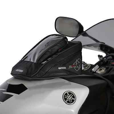 New Oxford Motorcycle Bike 1L Map Holder & Satnav Pocket Micro Tank Bag Black