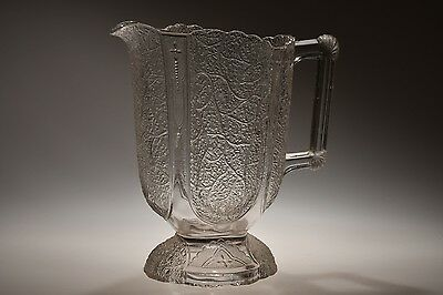 RARE c. 1881 No. 555 SHELL AND TASSEL by Geo. Duncan CRYSTAL SQ 1/2 GALPitcher