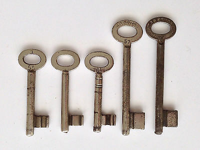 "Antique Skeleton Type Keys from Germany marked ""16-1/4, 57, etc"""