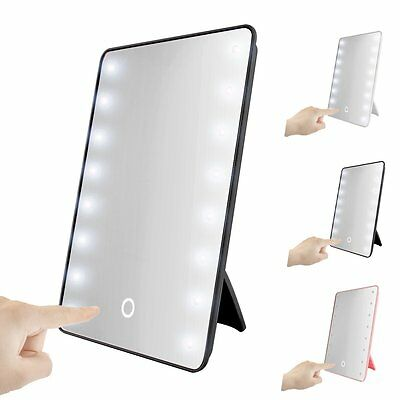 LED Touch Screen Makeup Mirror 16 LEDs Lighted Make-up Cosmetic Mirror Utility
