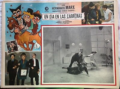 Orig 1937 Marx Brothers A Day At The Races Lobby Card Spanish Lot Of 8 12.5X16.5