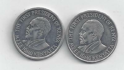 2 DIFFERENT 1 SHILLING COINS from KENYA DATING 2009 & 2010..