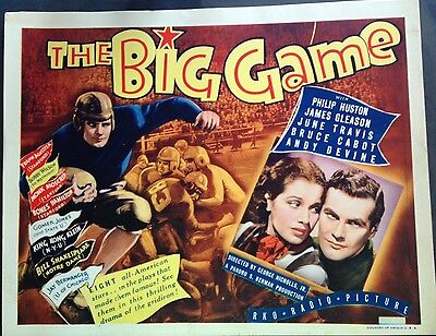 Orig 1936 The Big Game Football Movie Lobby Card Lot Of 8 11X14