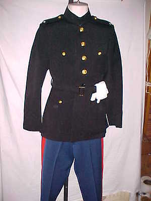 Us.marine Corps Officer Used  Wool Dress Blue Uniform Set No Tag Size