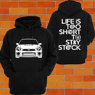 Hoodie SUBARU WRX Bug Eye MY01 STi Jumper Turbo Impreza Boxer Drift RX CAR