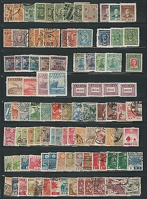 China: Japon small lot of + 100 stamps hinged or used. CI08