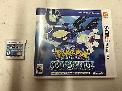 Pokemon: Alpha Sapphire (Nintendo 3DS, 2014) GAME AND CASE NES HQ 3 DS