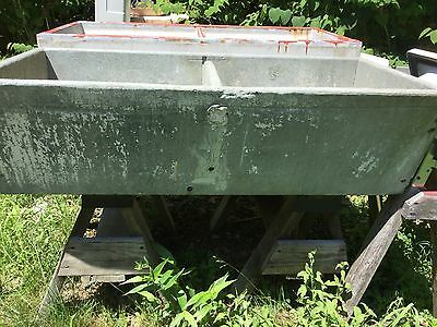 Antique Vintage Old Deep Double Basin Soapstone Sink Laundry