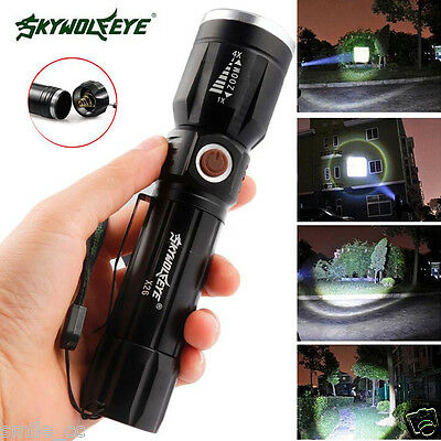 6000Lumens 5 Modes CREE XM-L T6 LED 3 AAA Batterie Lampe torche Focus Zoomable