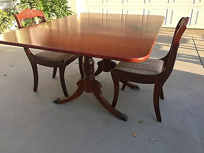 Antique Duncan Phyfe Style Drop Leaf Dining Mahogany Wooden Table VIDEO WATCH!!