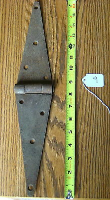 Old Antique Vintage Cast Iron 1Pc Single  Barn Farm Shed Door Strap Hinges #9