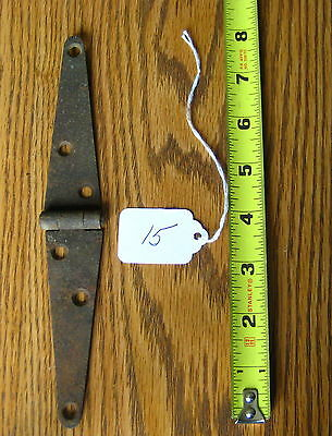 Old Antique Vintage Cast Iron 1Pc Single Barn Farm Shed Door Strap Hinges #15
