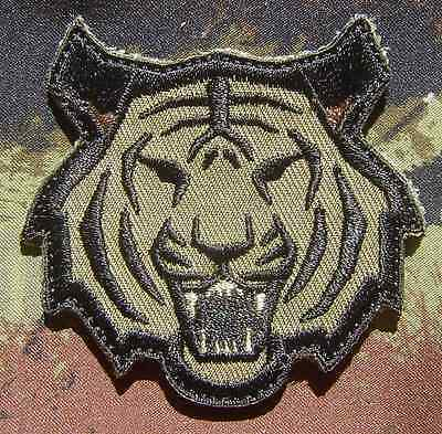 Tiger Head Usa Army Morale Combat Military Forest Velcro® Brand Fastener  Patch