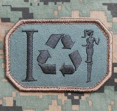 I Recycle Women Playboy Tactical Morale Forest Velcro® Brand Fastener Patch