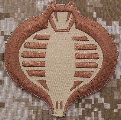 Cobra Gi Joe Usa Army Tactical Us Military Morale Badge Desert Arid Hook Patch