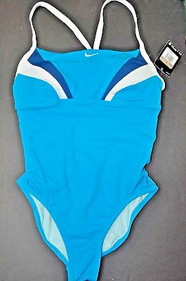 Nike swimsuit 12 one-piece bathing suit Aqua Lined padded cups