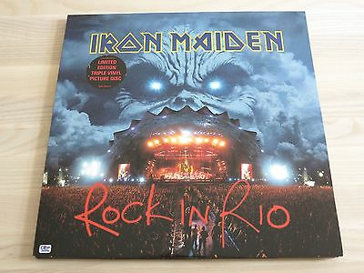 IRON MAIDEN 3 PICTURE LP - ROCK IN RIO / 2002 EMI PRESS IN MINT Condition