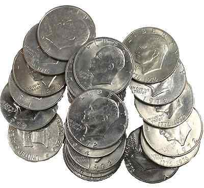 (100) Circulated Eisenhower Ike Dollar Coins! Great Collectible Mixed Dates!