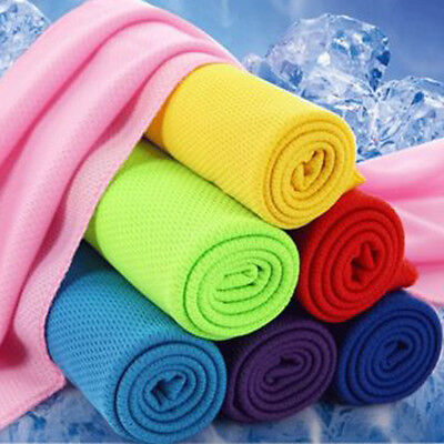 New Ice Cold Cool Sports Cooling Towel Scarf Reuseable Cycling Jogging Hot Sale