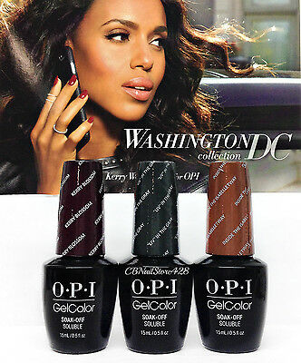 LIMITED EDITION-Gelcolor- OPI WASHINGTON DC F/W '16-Pick Any Color/Top/Base .5oz