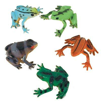 24 bulk ASST PAINTED FROGS small toys 089 novelty vending animal toy rubber frog