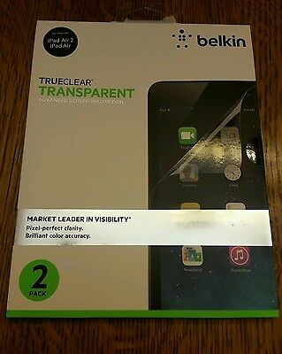 Belkin Trueclear Transparent Clear Screen Protector 2Pack For Apple Ipad Air 2