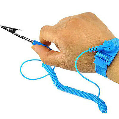 Anti Static Wrist Strap Band Computer Repair Prevention Electrostatic Discharge