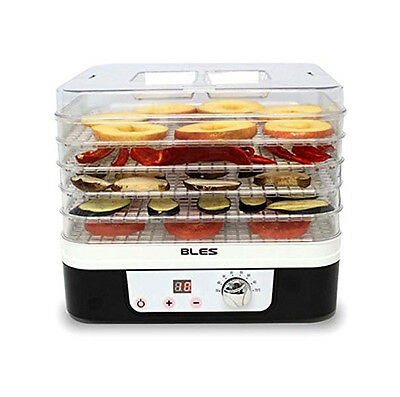 NEW BLES FD225 Food Dehydrator Dryer 5 Trays Timer Temperature Control